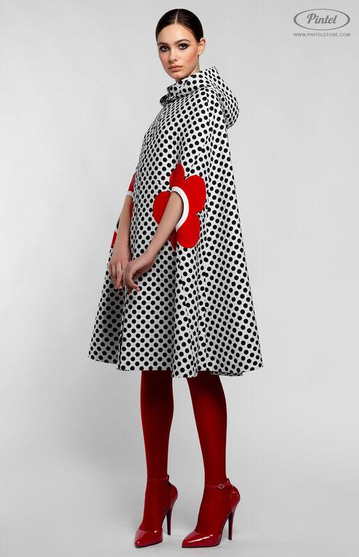 Верхняя одежда женская Pintel™ Романтичный кейп А-силуэта в горох LIÉVINTA - фото 2