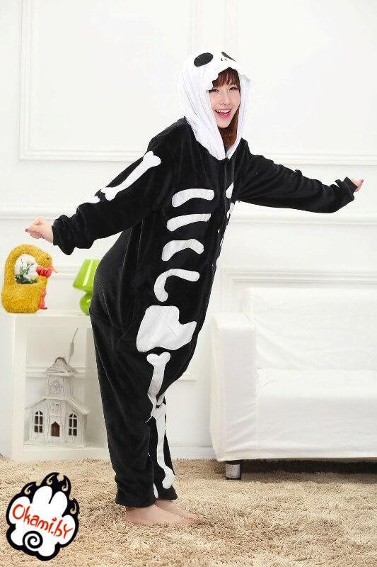Подарок Taicang Soft Пижама кигуруми «Скелет» - фото 3