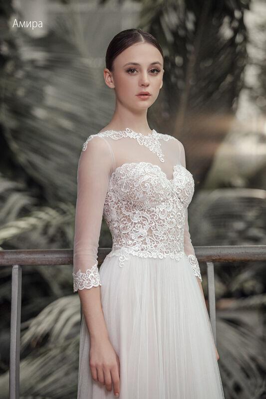 Свадебное платье напрокат Vintage Платье свадебное «Амира» - фото 3