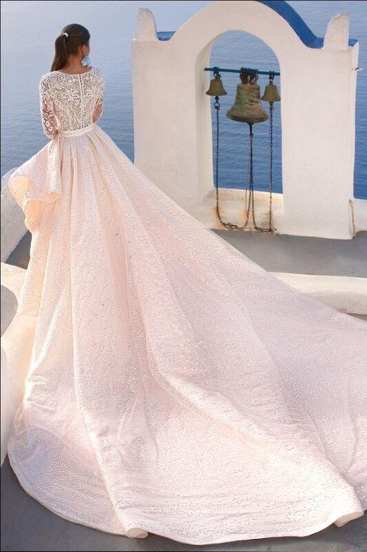 Свадебное платье напрокат Rafineza Свадебное платье Roberta со шлейфом напрокат - фото 3