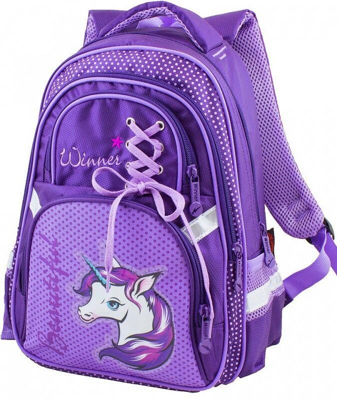 Магазин сумок Winner Рюкзак школьный фиолетовый 915 - фото 1