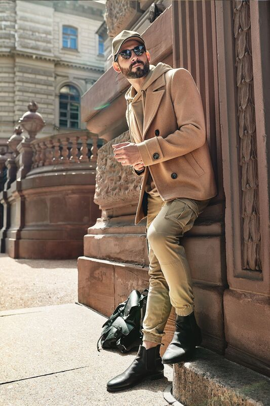 Верхняя одежда мужская Etelier Пальто мужское демисезонное 1М-9598-1 - фото 5