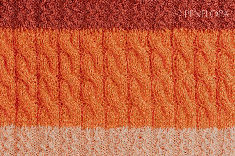 Шарф и платок PENELOPA Песочно-оранжевый снуд M18 - фото 2