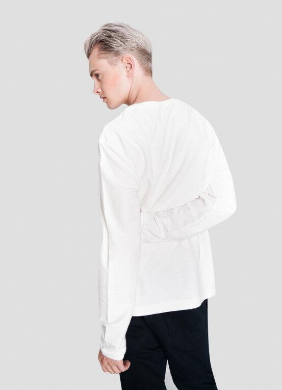 Кофта, рубашка, футболка мужская O'STIN Джемпер из текстурированного полотна MT5X36-01 - фото 3