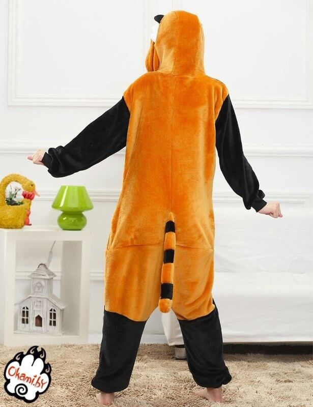 Подарок Taicang Soft Пижама кигуруми «Красная Панда (Енот)» - фото 3