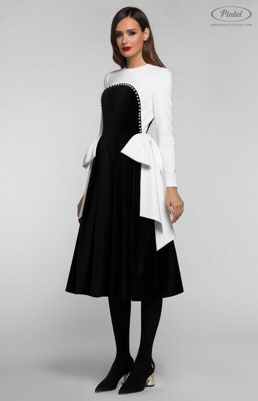 Платье женское Pintel™ Комбинированное платье  Abigale - фото 1
