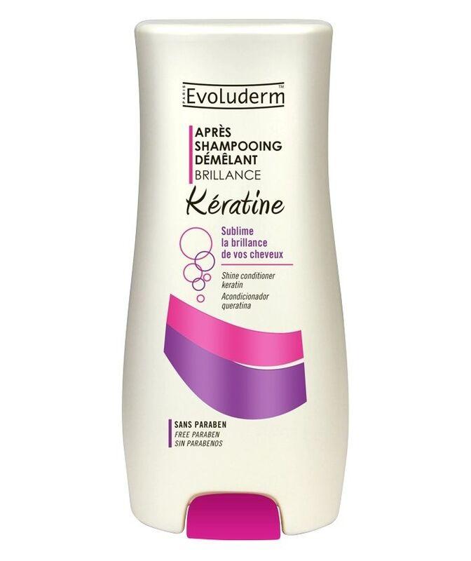 Уход за волосами Evoluderm Кондиционер для придания блеска и восстановления волос с кератином Hair Care Keratin Conditionner - фото 1