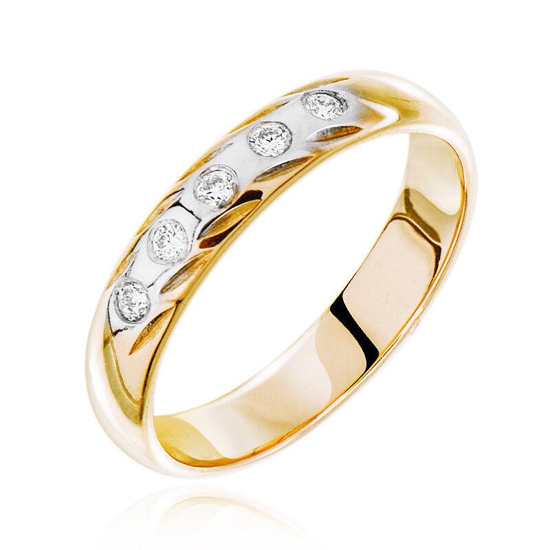 Ювелирный салон Jeweller Karat Кольцо обручальное золотое с бриллиантами арт. 1212796/1 - фото 1