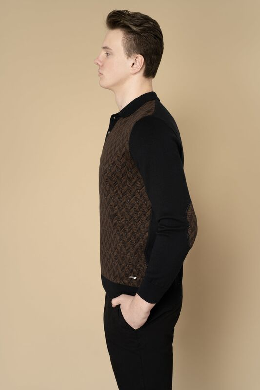 Кофта, рубашка, футболка мужская Etelier Джемпер мужской  tony montana 211391 - фото 2