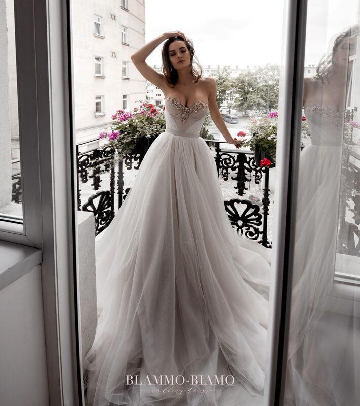 Свадебное платье напрокат Blammo-Biamo Платье свадебное The Rice Nora - фото 4