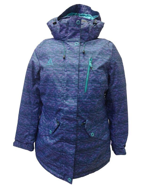 Спортивная одежда Azimuth Женская горнолыжная мембранная куртка синяя - фото 1