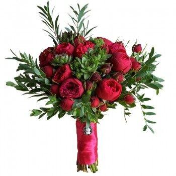 Магазин цветов Ветка сакуры Свадебный букет № 105 - фото 1