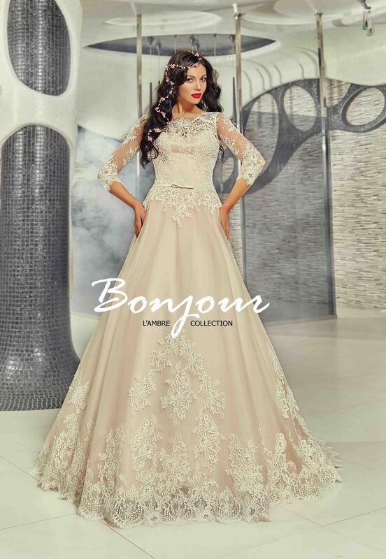 Свадебный салон Bonjour Свадебное платье «Fibi» из коллекции LAMBRE 2017 - фото 1