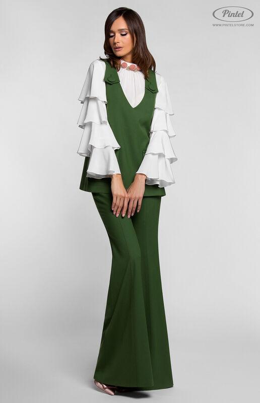 Костюм женский Pintel™ Костюм-тройка из натуральной шерсти и шёлка CARELISSE - фото 2