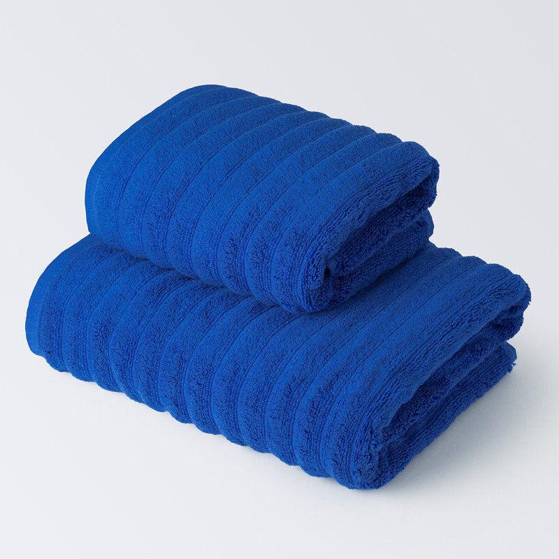 Подарок Ecotex Набор полотенец махровых «Лайфстайл» синий, 2 шт - фото 1