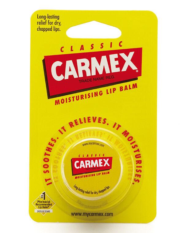 Декоративная косметика Carmex Бальзам для губ классический, баночка в блистере - фото 1