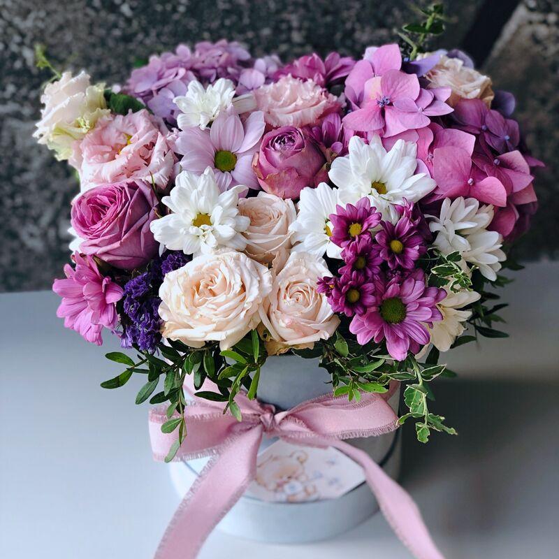 Магазин цветов Кошык кветак Коробочка классическая №11 - фото 1