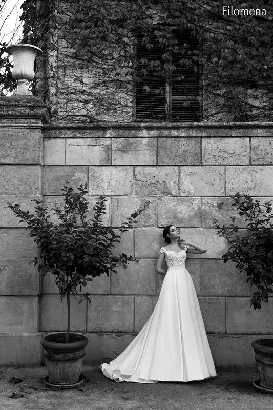 Свадебное платье напрокат Bonjour Платье свадебное «Filomena» из коллекции LA POESIE 2017 - фото 4