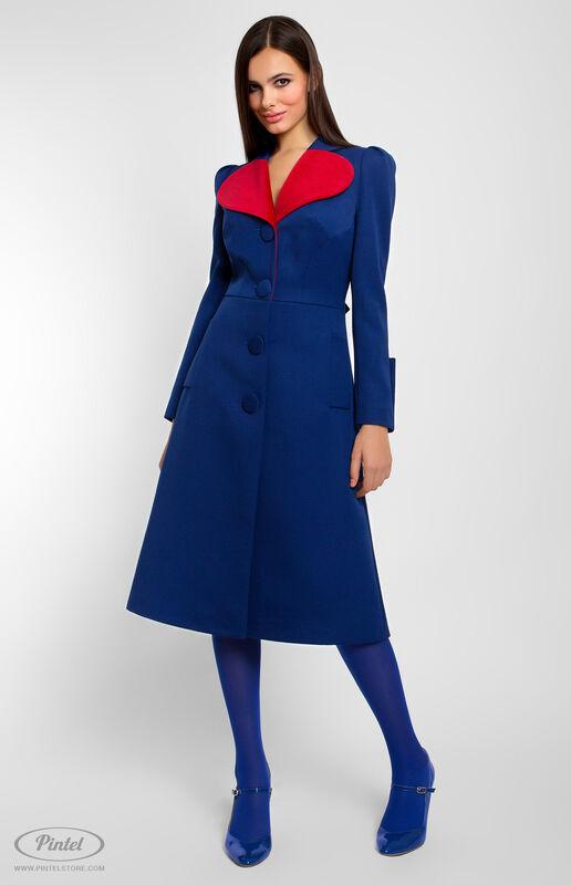 Верхняя одежда женская Pintel™ Приталенное пальто из натуральной шерсти  Avonnie - фото 1