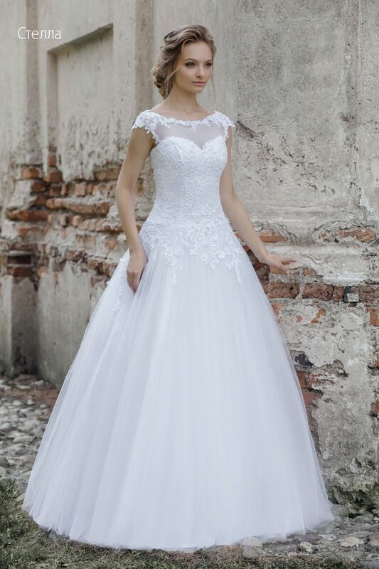 Свадебное платье напрокат Vintage Платье свадебное «Стелла» - фото 1