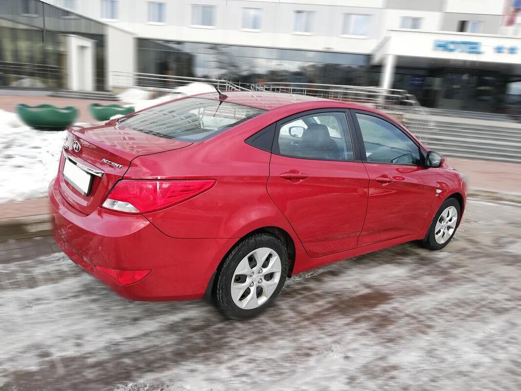 Прокат авто Hyundai Accent (2016 г.в, красный перламутр) - фото 3