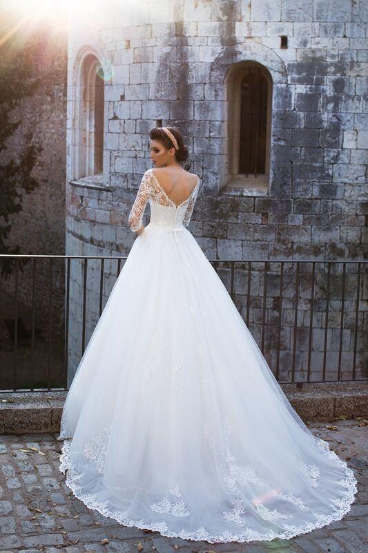 Свадебное платье напрокат Bonjour Платье свадебное «Adelfa» из коллекции LA SENSUALITE 2017 - фото 2