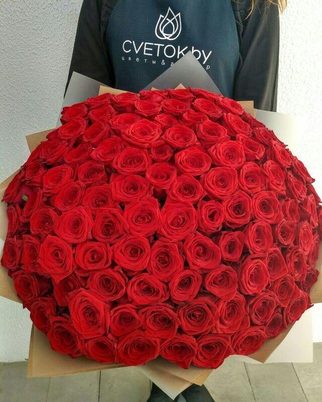 Магазин цветов Cvetok.by Букет из 101 красной розы - фото 3