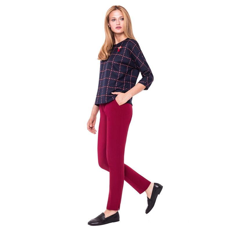 Кофта, блузка, футболка женская L'AF Блузка Claret 14CL (клетчатая) - фото 1