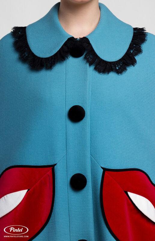 Верхняя одежда женская Pintel™ Кейп из голубой натуральной шерсти Mellaáni - фото 4