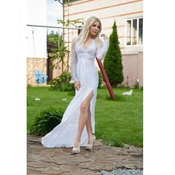 9204e6dab86 Купить Легкое белое платье в пол Tanya Denisevich в Минске – цены ...