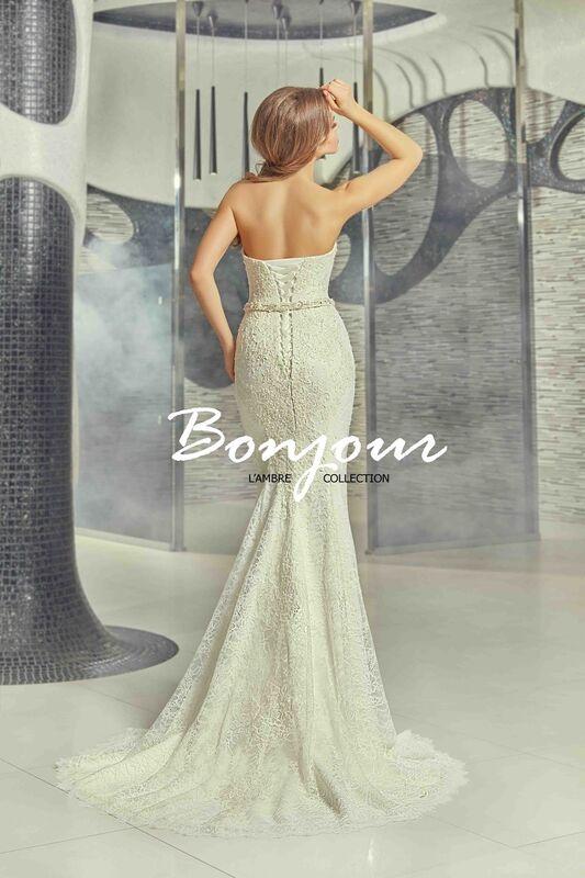 Свадебное платье напрокат Bonjour Платье свадебное «Olivia» из коллекции LAMBRE 2017 - фото 8