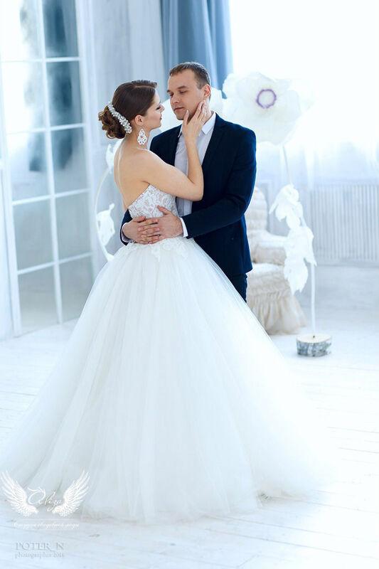 Свадебное платье напрокат ALIZA Платье свадебное «Amor» Soffito - фото 6