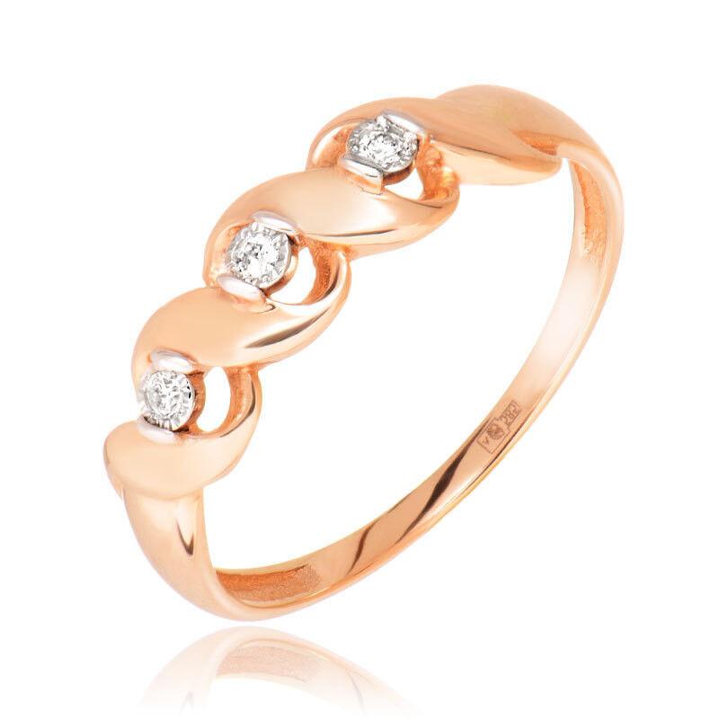 Ювелирный салон Jeweller Karat Кольцо золотое с бриллиантами арт. 3214768/9 - фото 1