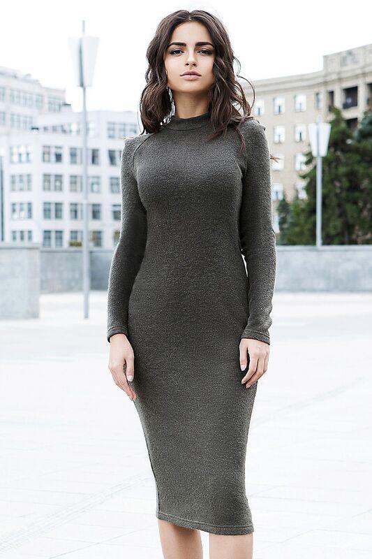 Платье женское SL.IRA Зеленое платье из ангоры - фото 1