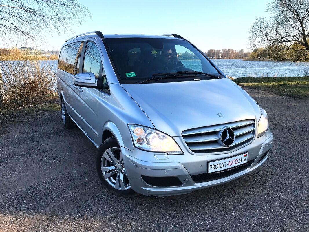 Прокат авто Mercedes-Benz Viano 2013 серебристый - фото 2