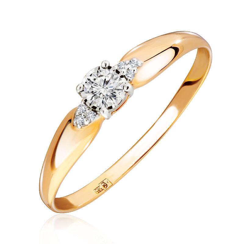Ювелирный салон Jeweller Karat Кольцо золотое с бриллиантами арт. 3215702/9 - фото 1