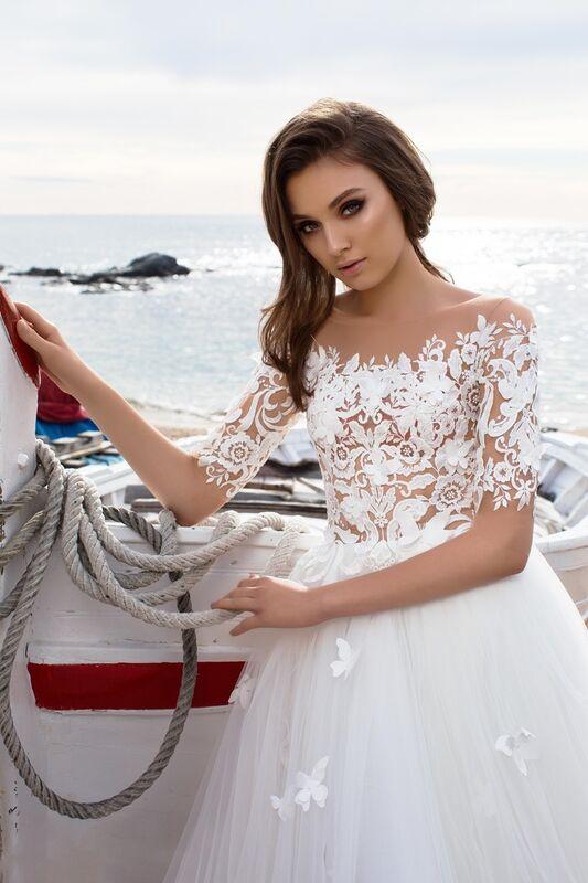 Свадебное платье напрокат Bonjour Платье свадебное «Nanzi» из коллекции LA SENSUALITE 2017 - фото 4