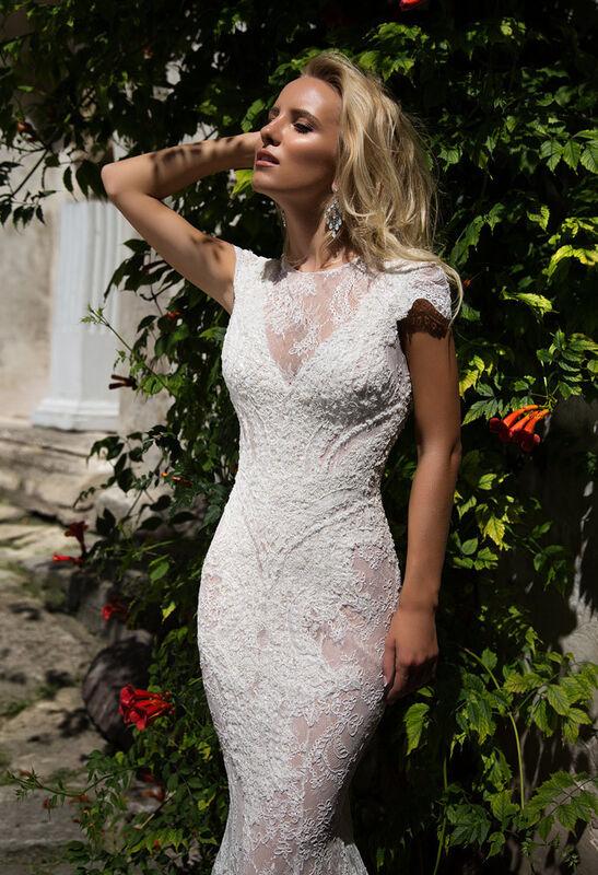 Свадебное платье напрокат Oksana Mukha Платье свадебное Venera - фото 3