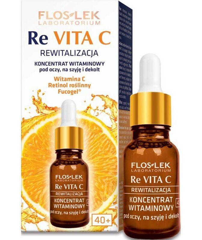 Уход за лицом Floslek Витаминный концентрат для глаз, шеи и декольте Vitamin concentrate under eyes, on neck and neckline ReVitaC, 15 мл - фото 1