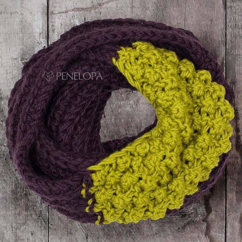 Подарок на Новый год PENELOPA Вязаный шарф-снуд М64 - фото 1