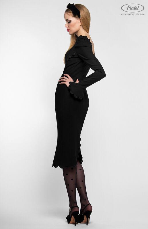 Платье женское Pintel™ Чёрное приталенное платье-футляр Janne - фото 2