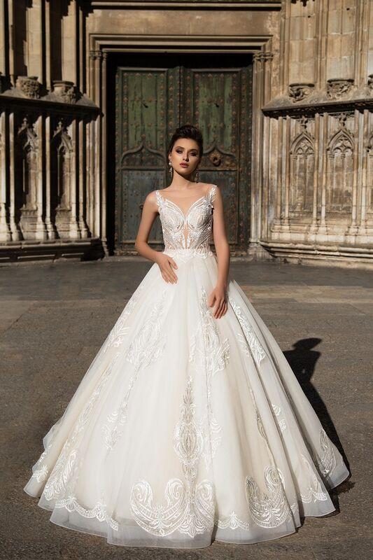 Свадебный салон Bonjour Galerie Свадебное платье «Calypso» из коллекции LA SENSUALITE - фото 1