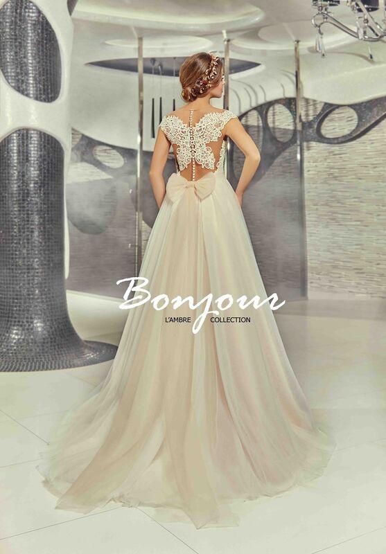 Свадебное платье напрокат Bonjour Платье свадебное «Martina» из коллекции LAMBRE 2017 - фото 2