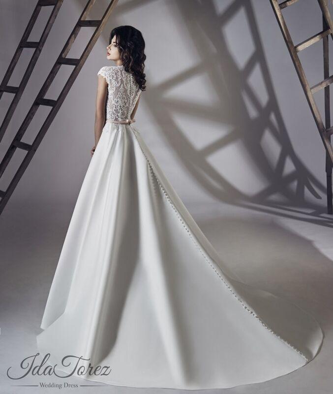 Свадебное платье напрокат Ida Torez Свадебное платье Traza - фото 2