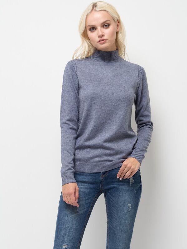 Кофта, блузка, футболка женская Sela Джемпер женский JR-114/2044-7442 голубой - фото 1