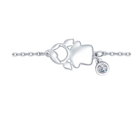 Ювелирный салон Sokolov Браслет «Девочка» из серебра с фианитом 94050348 - фото 1