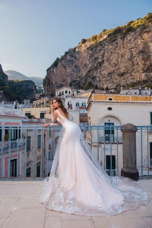 Свадебный салон Bonjour Galerie Свадебное платье EVILA из коллекции NEW COLLECTION - фото 3