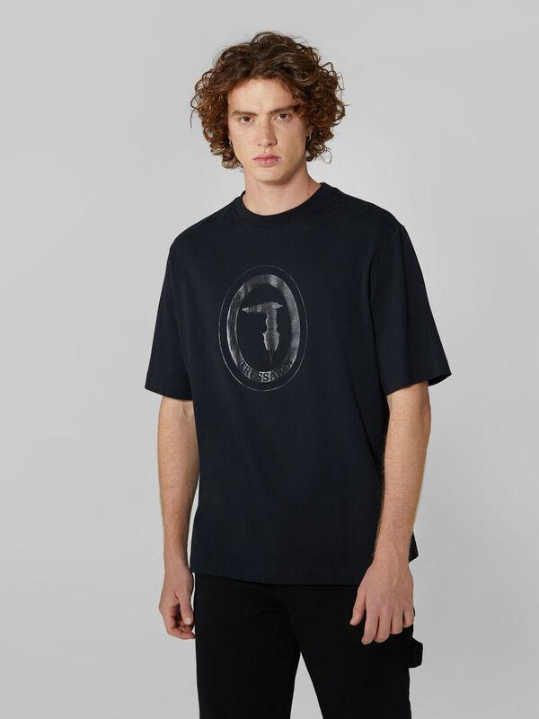 Кофта, рубашка, футболка мужская Trussardi Футболка мужская 52T00398-1T004243 - фото 1
