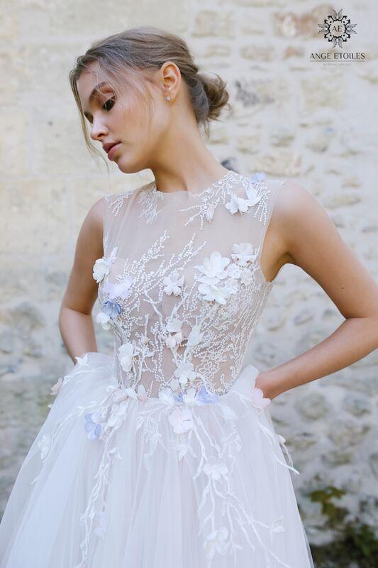 Свадебное платье напрокат Ange Etoiles Платье свадебное AEriality Collection  Shana - фото 4