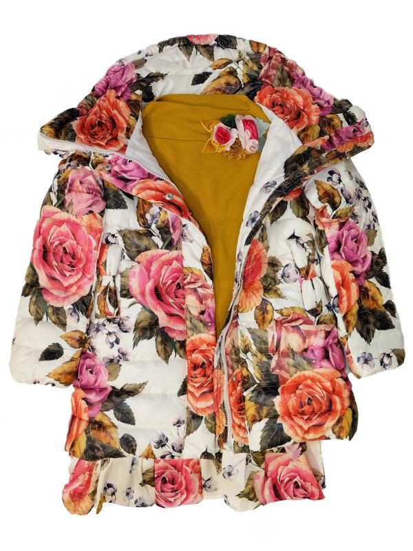 Верхняя одежда детская Monnalisa Пальто для девочки 196120 6086 0001 - фото 4